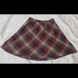 Vintage Skirts - Stylish VTG Plaid Wool Skirt